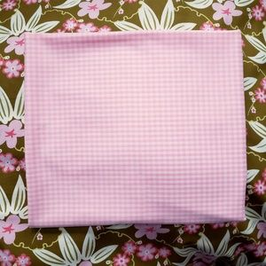 Vintage Sheer Pink White Gingham Fabric 2.5y X 44""